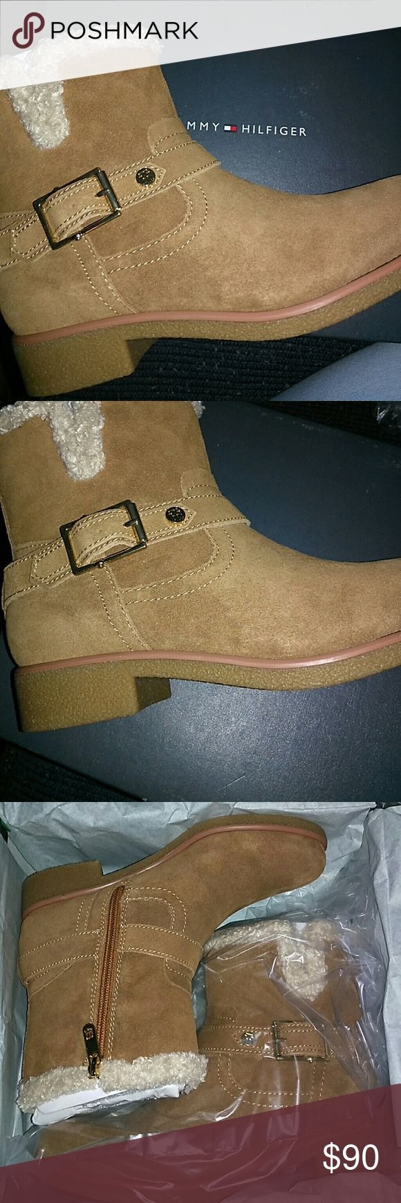 Tommy Hilfiger Boots Brown boots never worn excellent condition Tommy Hilfiger Shoes Winter & Rain Boots