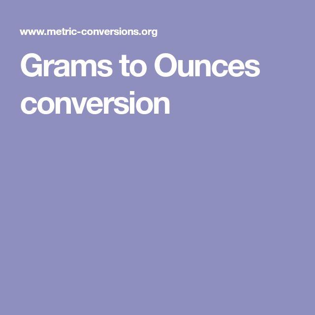 Grams to Ounces conversion