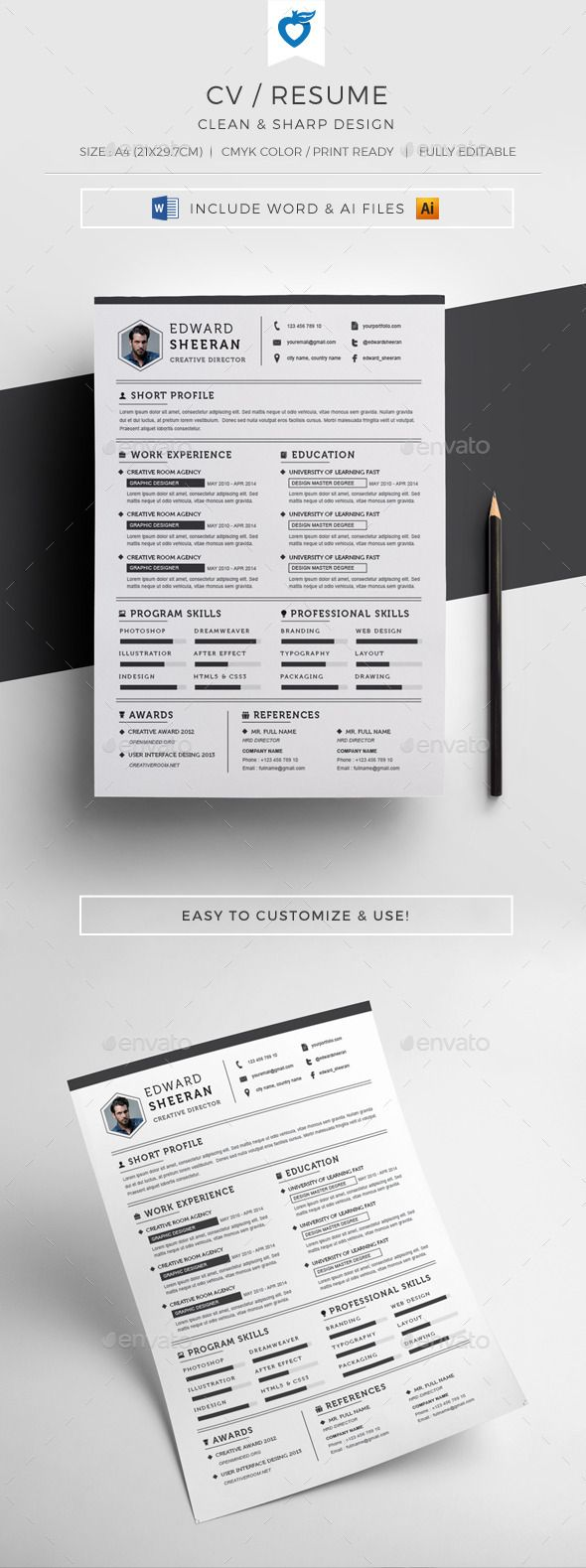 Resume Cv Templates Free Download%0A North America Road Map Atlas