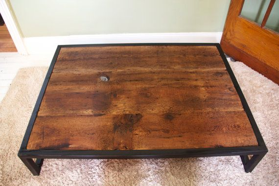 Coffee Table Reclaimed Barn Board Wood Metal