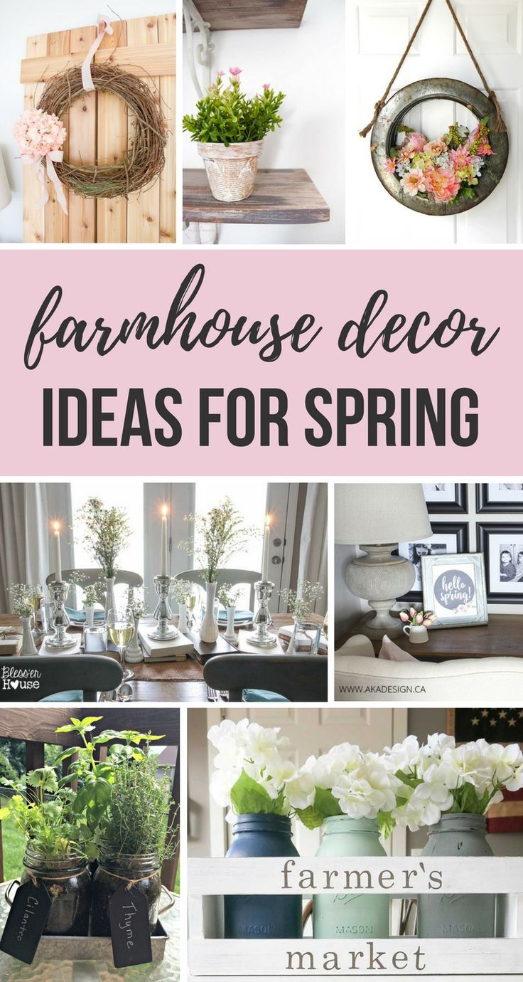 Are you looking for creative ways to decorate your home for spring this year? Then you're going to love these farmhouse decor ideas for spring! Simply to DIY, these decor ideas will be ones you've got to steal!