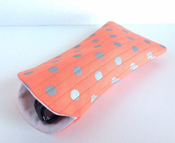 Large Sunglass Case Sunglass Case Polka Dot by WarmHeartedDesigns