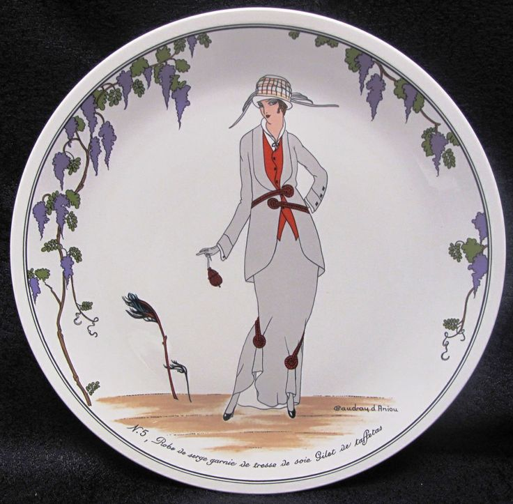 7 best art deco figure plate images on pinterest porcelain china and dishes. Black Bedroom Furniture Sets. Home Design Ideas