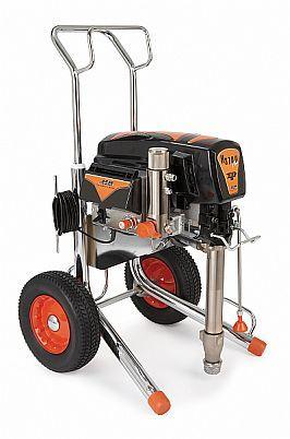Elektrische Kolbenpumpe EP3700 von Graco mit 30 Meter Heizschlauch auf Schlauchaufrollwagen.