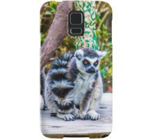 A pair of Orange-Eyed Ring-Tailed Lemurs Samsung Galaxy Case/Skin