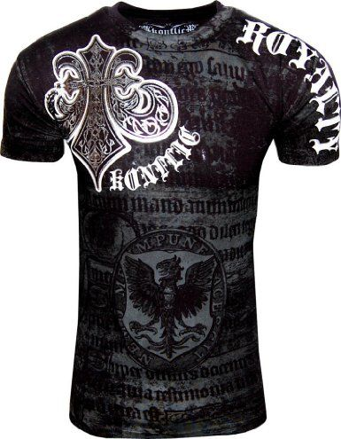 Amazon.com: Konflict NWT Mens Saints Royalty Graphic Designer MMA Muscle T-shirt!: Clothing