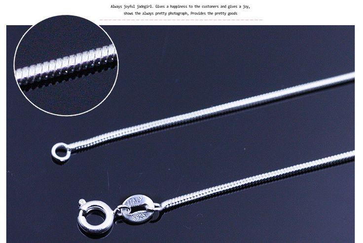 Sólo versión coreana ronda 925 joyería de plata collar de cadena de serpiente cadena venta al por mayor con colgante cadena en Cadenas de Joyería en AliExpress.com | Alibaba Group
