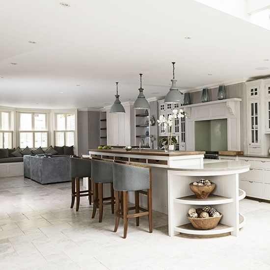 Open-plan kitchen design ideas | Open plan kitchen, Open