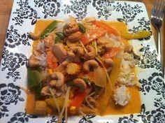 God mad og søde sager: Thai: Wok med karrypasta og kokosmælk