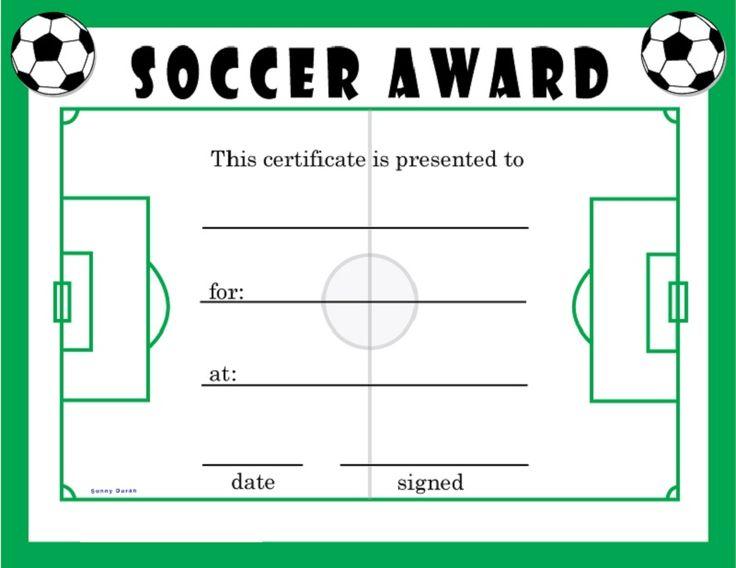 Best 25 soccer gifts ideas on pinterest for Soccer certificate award ideas