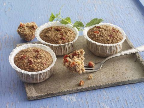 Sunde muffins med kanel og gojibær
