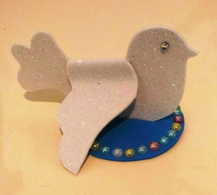 pasqua decorazioni colomba della pace gomma crepla