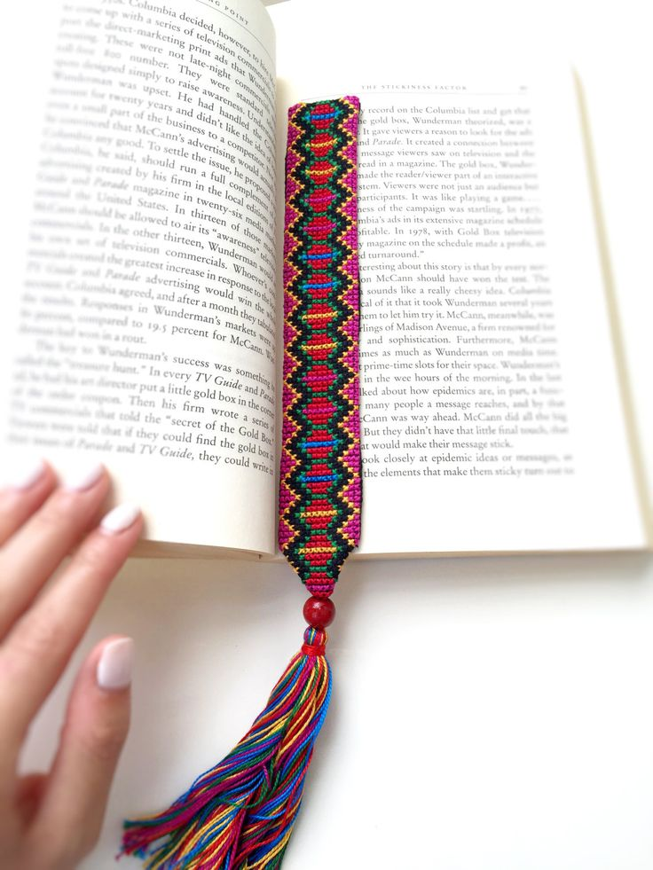 Bookmark - Palestinian Embroidered Cross-stitch by Shaymas on Etsy