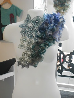 Helen Whitworth, New Designers 2012 in London. Her inspiration was mushroom and fungus.