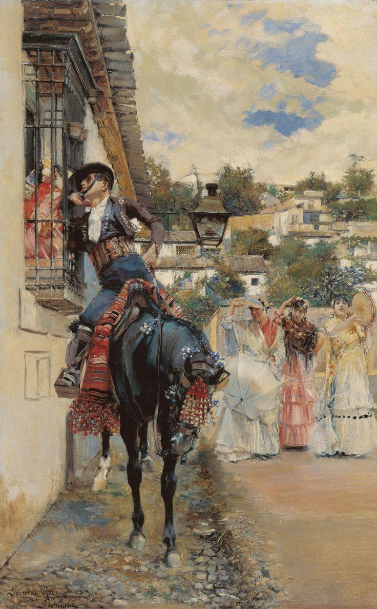 José García Ramos. Cortejo español, 1885. Colección Carmen Thyssen-Bornemisza en préstamo gratuito al Museo Carmen Thyssen Málaga