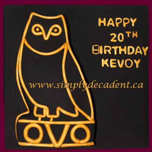 OVO (Octobers Very Own - Drake Record Label) Owl Birthday Cake