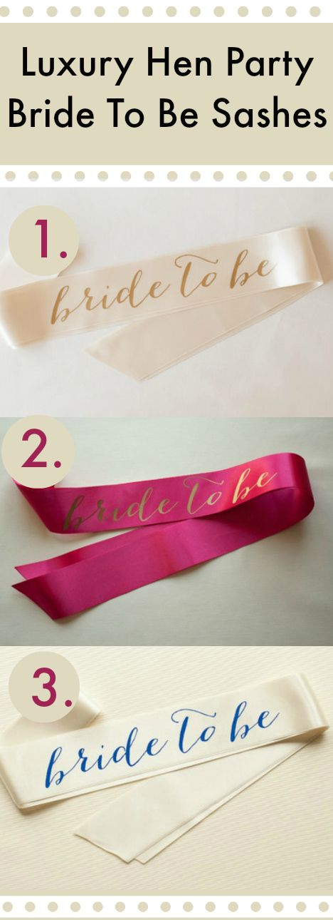 ✔ Classy Hen Party Sashes #HenParty #HenNight #Sashes #BrideToBe Take a look  http://henbox.co.uk/collections/hen-party-accessories
