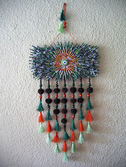 Paper Bead Wall Hanging Rectangle Wall Hanging by neduk on Etsy, $100.00
