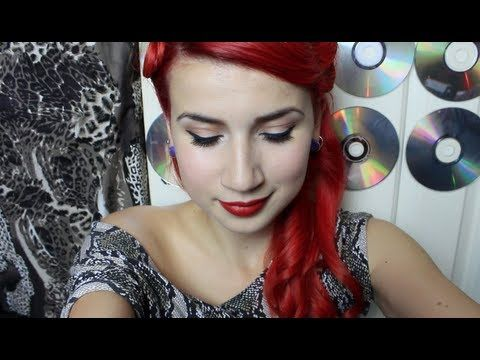 Pin-up makeup tutorial. I guess I didn't realize that some chicks do THIS much to their faces before going out. I'm more of a powder, liner, mascara, shadow, Burt's Bees (SOMETIMES lipstick, instead) and go kind of girl, but this is still super cute.