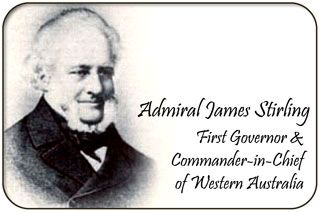 Admiral James Stirling was a british naval officer and colonial administrator. His enthusiasm and persistence persuaded the British Government to establish the Swan River Colony and he became the first Governor and Commander-in-Chief of Western Australia