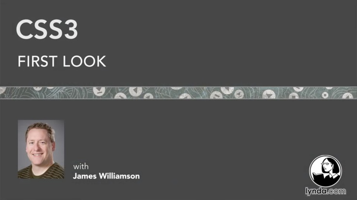 In CSS3 First Look, staff author James Williamson provides an in-depth introduction to the newest CSS standard, detailing its modular format, history, and current level of browser support, while also demonstrating its capabilities and applications. The course includes tutorials on using new selectors, modifying typography and color, working with the box model, and understanding media queries.