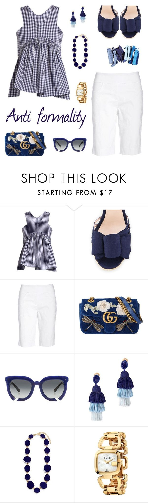 """""""P. G. # 50"""" by patricia-gonzalez-1 ❤ liked on Polyvore featuring Teija, Kate Spade, Ruby Rd., Gucci, Grey Ant, Oscar de la Renta and Kenneth Jay Lane"""