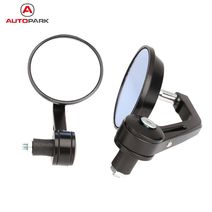 "7/8"" Universal Round Motorbike Motorcycle Handle Bar End Rearview Side Mirrors Black Professional Motorcycle Mirror-in Side Mirrors & Accessories from Automobiles & Motorcycles on Aliexpress.com 