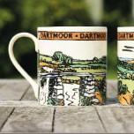HK White fine bone china mugs Gifts from Dartmoor