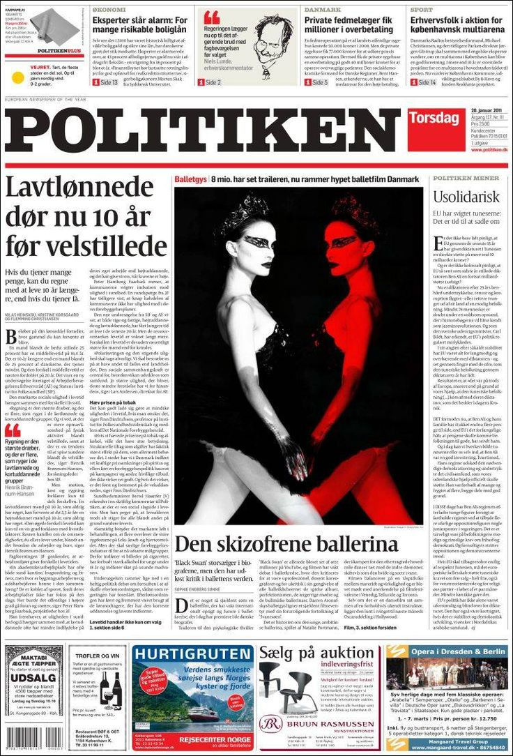 Portada de Politiken (Denmark)