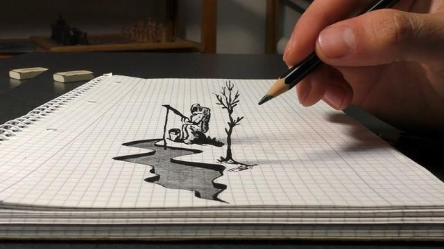how to draw astrofisher easy 3d art for beginners learn tutorial