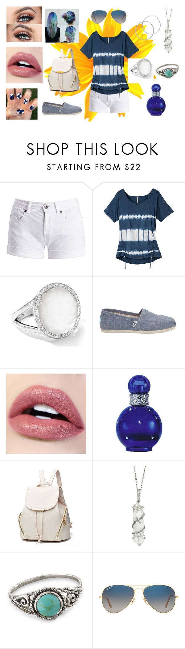 """Spring Trip"" by catmarsalia on Polyvore featuring Barbour International, Mountain Khakis, Ippolita, TOMS, Britney Spears, Sharon Khazzam, Ray-Ban and Melissa Odabash"