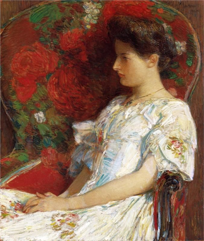 The Victorian Chair, 1906  Childe HassamChilde Hassam, Victorian Chairs, Frederick Child, Art, Hassam 18591935, Victorian Era, Oil Painting, Child Hassam, Childehassam