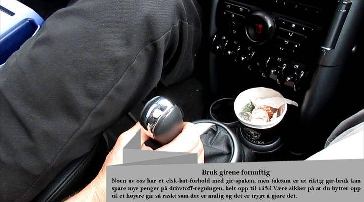 Bruk girene riktig For å få best drivstofføkonomi med bilen din, så er det et velkjent faktum at du må skifte gir tidlig, da dette er vår naturlige kjørestil. Men noen gjør feilen ved aldri å bruke de lave girene i det hele tatt. #piggfriedekk