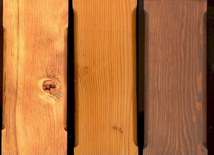 Douglas Fir Timbers with Different Stains & Finishes