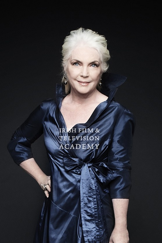 Fionnula Flanagan.  A perfect color for our white hair