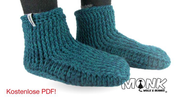 Socken & Hüttenschuhe häkeln - MONK Wolle & Beanies - Socken, Schuhe