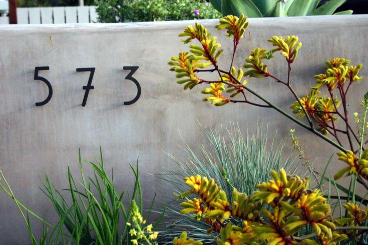 Modern house number