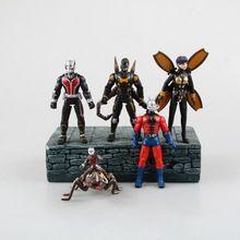 5pcs/lot 11-19cm PVC Small Marvel Super Hero Ant-man Minifigures Comics Anime Ant Man Action Figure hot Toys Figurine