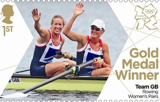 For Great Britain's gold medal winners, the country printed commemorative stamps overnight, rush delivering them to post offices by lunchtime.