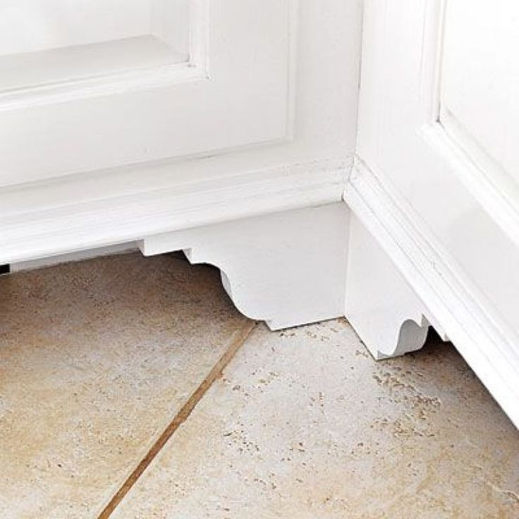 25 best baseboard ideas on pinterest baseboards for Kitchen cabinets that look like furniture