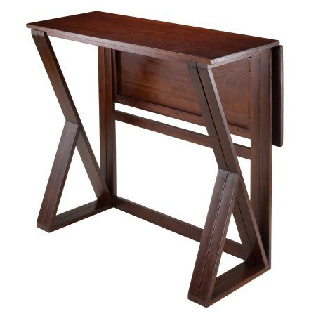 Harrington Drop Leaf High Table, Walnut, Brown