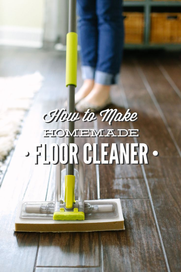How to make two easy homemade floor cleaners with vinegar, alcohol, and water. Not suitable for all floor types.