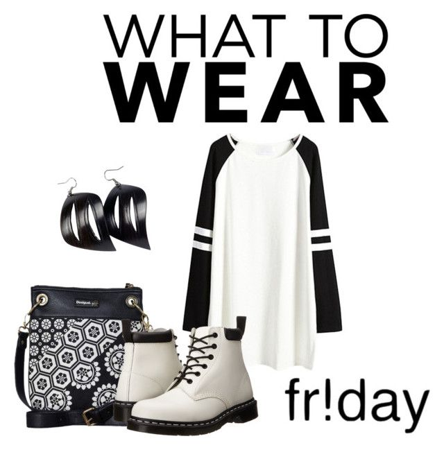 """""""Black Friday"""" by romaosorno ❤ liked on Polyvore featuring Desigual and Dr. Martens"""