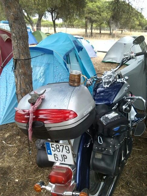 Mi Jarrillo, mi moto y mi tienda, la pasada concentracion en Faro, Portugal