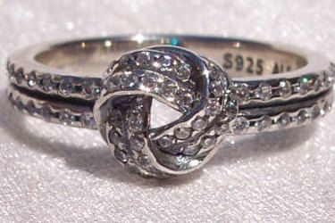 Pandora Love Knot Ring Stunning Sparkling Bow by JEWELSELAGANT