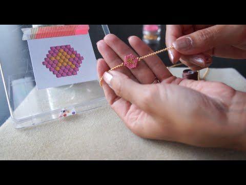 Tutoriel vidéo pour apprendre le tissage de perles brick stitch - Lovelyoupi
