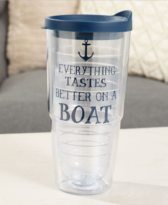 Whimsical Boat Anchor Theme 24 Oz Double Wall Insulated Plastic Drinkware w/ Lid | Home & Garden, Kitchen, Dining & Bar, Drink Containers & Thermoses | eBay!