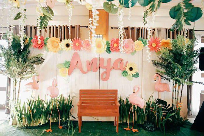 Tropical Flamingo Birthday Party Kara S Party Ideas Flamingo Birthday Party Flamingo Birthday Tropical Party