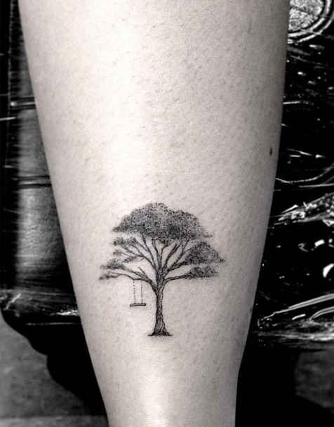 Tree swing | Tattoo artist: Dr. Woo in Los Angeles.