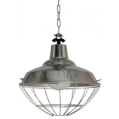 Lámpara colgante industrial con reja en varios acabados (Diámetro: 35cm)